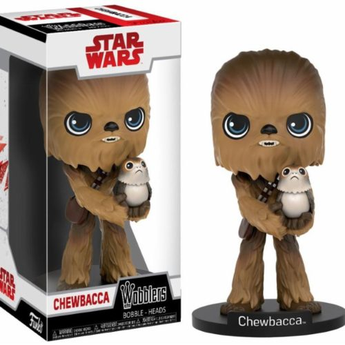 funko wobblers chewbacca with porg