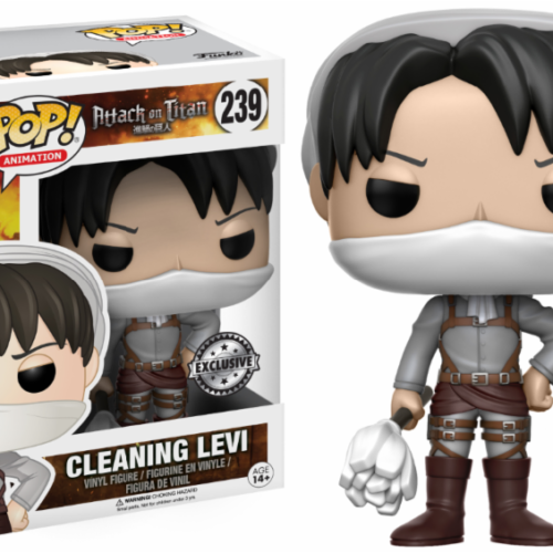 funko pop cleaning levi