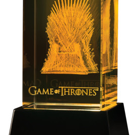 GAME OF THRONES IRON THRONE CRYSTAL 3D