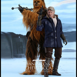 SW 12″ HAN SOLO & CHEWBACCA EP VII SET