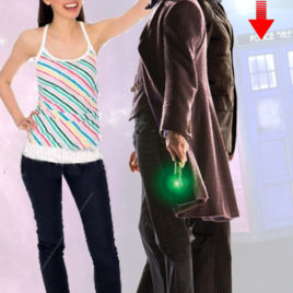 DOCTOR WHO 10TH AND 11TH DOCTOR CUTOUT