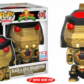 FUNKO POP NYCC 2017 DRAGONZORD BLACK & GOLD OVERSIZE